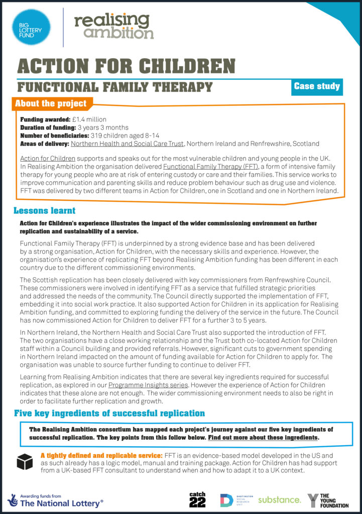 Realising Ambition Case Study - Functional Family Therapy