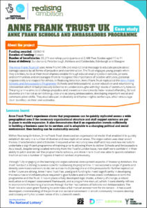 Anne Frank schools and ambassadors programme