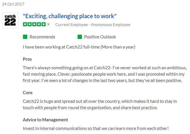 Indeed employer reviews uk